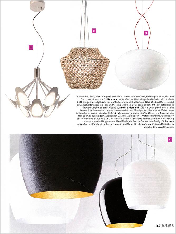 Crystal chandeliers lolli e memmoli magazines 170 case for Stili case