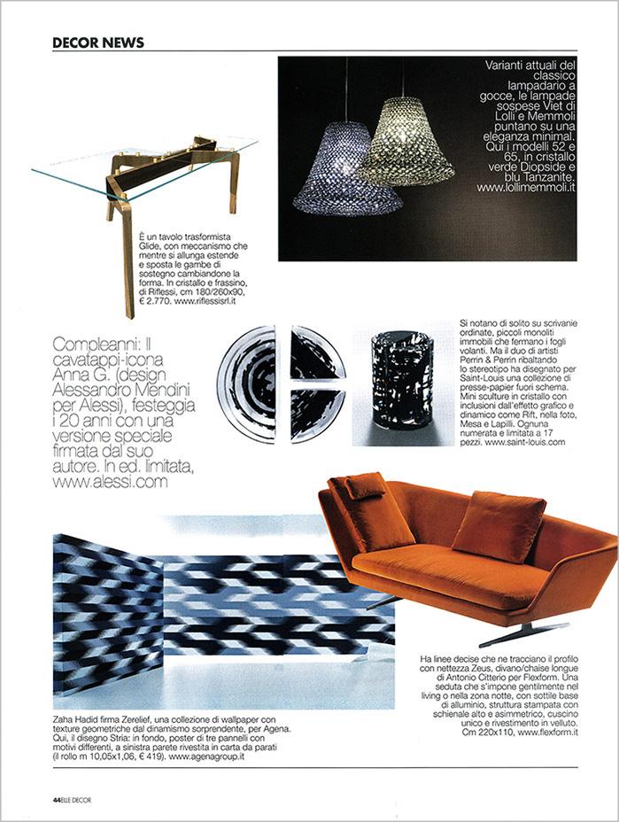 Crystal Chandeliers Lolli E Memmoli Magazines 230 Elledecor